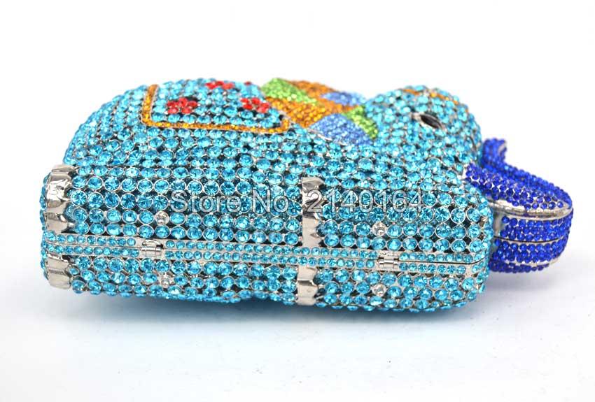 Sac c Cristal Nouveau Evening Bag Soirée b Strass d a En Partie Plein Sacs Mariage Main Diamant Éléphant De Luxe Incrusté Dames À BBn5qCT