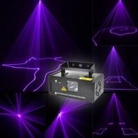 AC100V 240V Remote Stage Light Violet Purple Laser Lines Beam Scans DJ Dance Bar Xmas Party Disco DMX 512 Lighting Effect Light