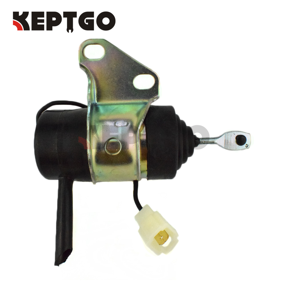 12v Fuel Shut Off Solenoid for Kubota G1700 G1800 G1800S G1900 G1900S G2160 G2160DS 16851-60010 16851-60012 16851-60013 stop solenoid 12v 16851 60010 for kubota gf1800 gf1800e t1600h t1600hg tg1860 zd18f zd21f k 008 k008 k0083ktc kcl