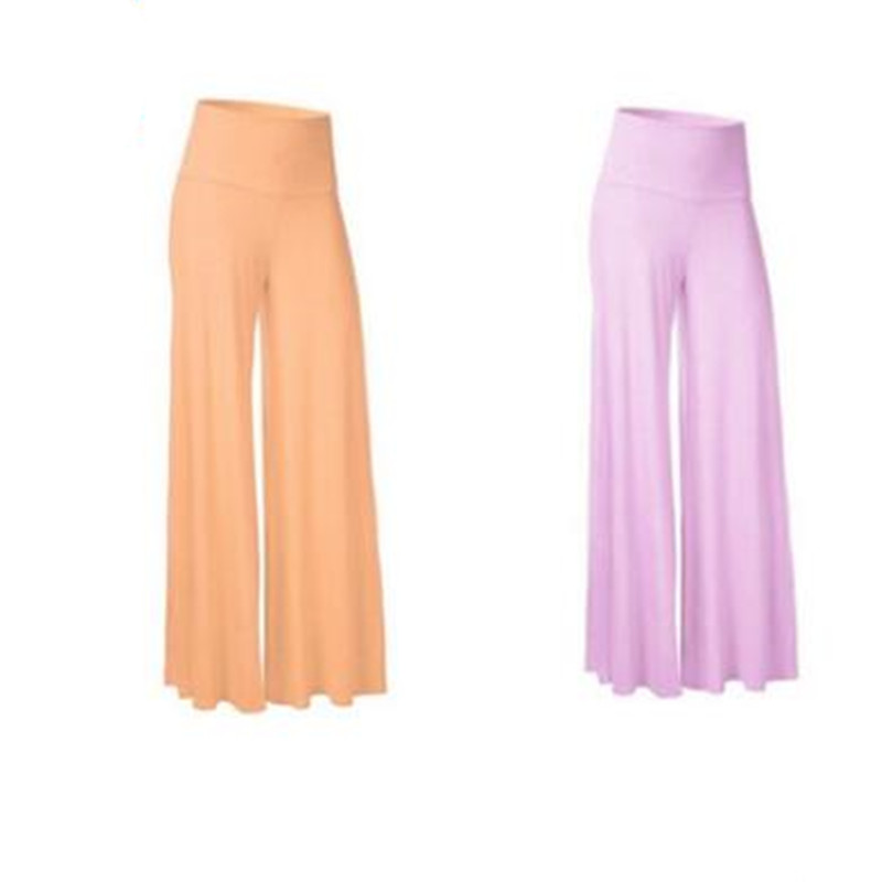 Hot sale Women's Casual High Waist trousers   Wide     Leg     Pants   trousers