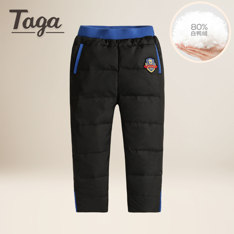 TAGA Warm Winter Children's Clothing Kids Down Pants Baby Boys And Girls Casual Sport Pant Children White Duck Down Warm Legging russia winter boys girls down jacket boy girl warm thick duck down