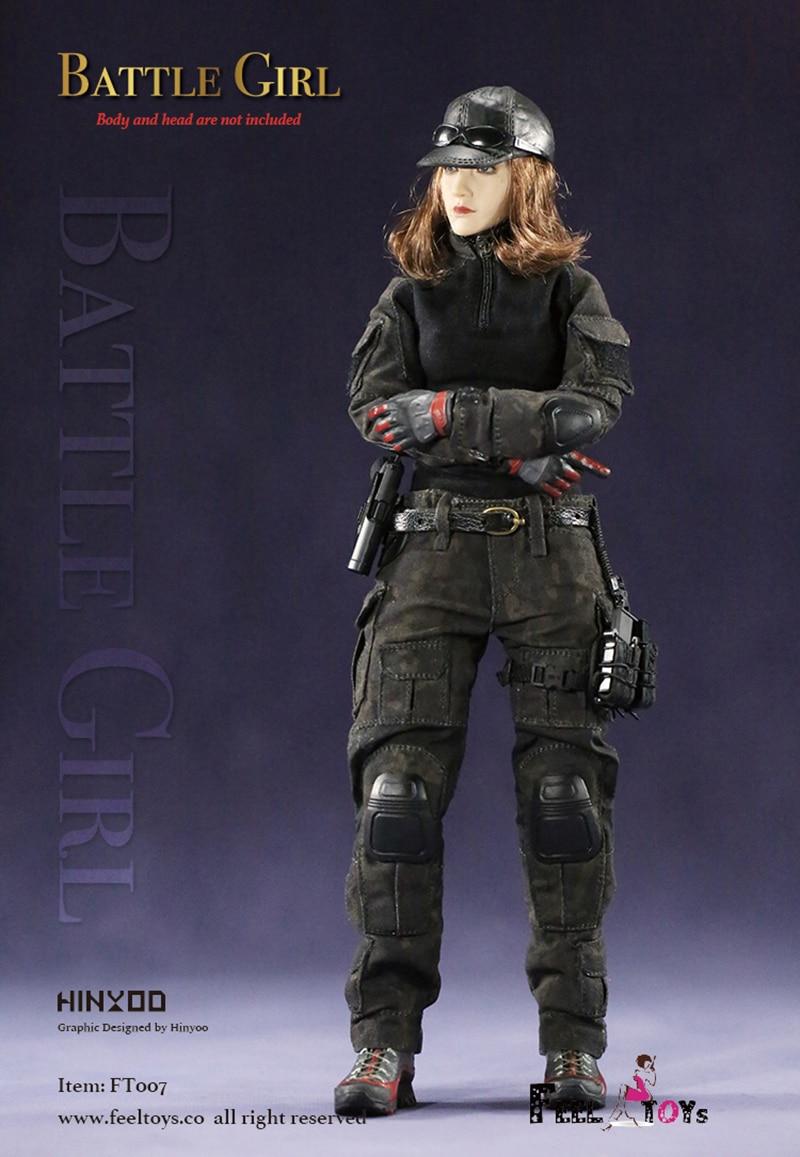 "1//6th Feeltoys FT007 Battle Girl 1.0 Clothes Set Boots 12/"" Female Figure Body"