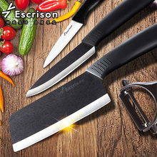 High quality Kitchen knives slicing meat knife cutting tool brand Paring Fruit peeler +Acrylic Holder + Chef  Ceramic Knife Sets