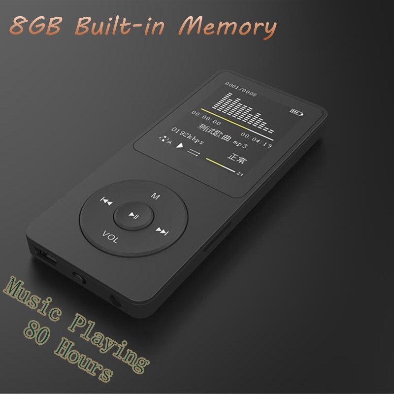 Новые 8 ГБ MP4 80 часов воспроизведения музыки без потерь MP4 Плеер 1.8 TFT экран MP4 с E-Book видео фото fm-радио Диктофон Часы ...