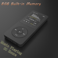 New Real 8GB 80 Hours Music Playing Lossless MP4 Player 1 8 TFT Screen MP4 With