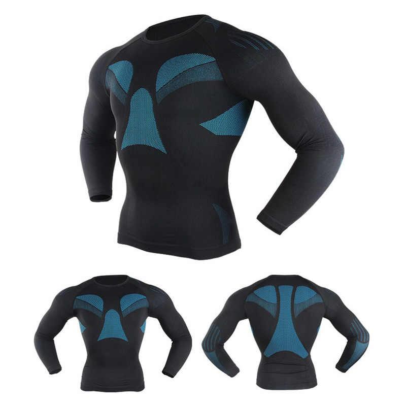 Conjunto Camisa de ciclismo de Inverno Homens Mulheres Malha de Esqui Bicicleta Skinsuit Compressão Camada de Base Do Esporte Roupa Interior Térmica Terno de Fitness Roupas
