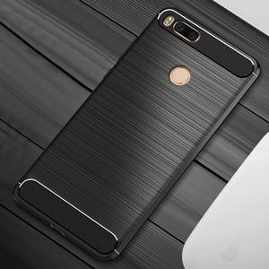 Image 5 - Funda protectora de silicona TPU para xiaomi mi a1, funda trasera de fibra de carbono para Xiaomi Mi5X Mi 5X MiA1 4GB 32GB 64GB