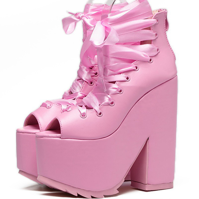 Bimbo Pinky Ultra High Heel Ankle Boots