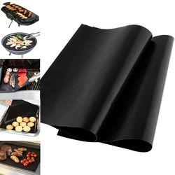 33x40cm wielokrotnego użytku non stick grill mata 0.08mm grubości PTFE grill pieczenia wkładki Teflon Cook Pad kuchenka mikrofalowa narzędzie|Wkłady do pieczenia|Dom i ogród -