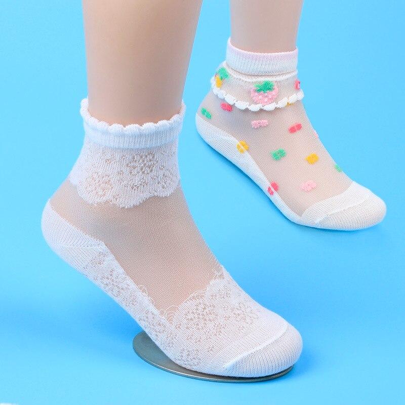 Обувь для девочек Носки для девочек сетка Стиль Детские носки с Мода эластичные кружевные цветы Новое поступление; Летнее оптовая продажа 5 ... ...