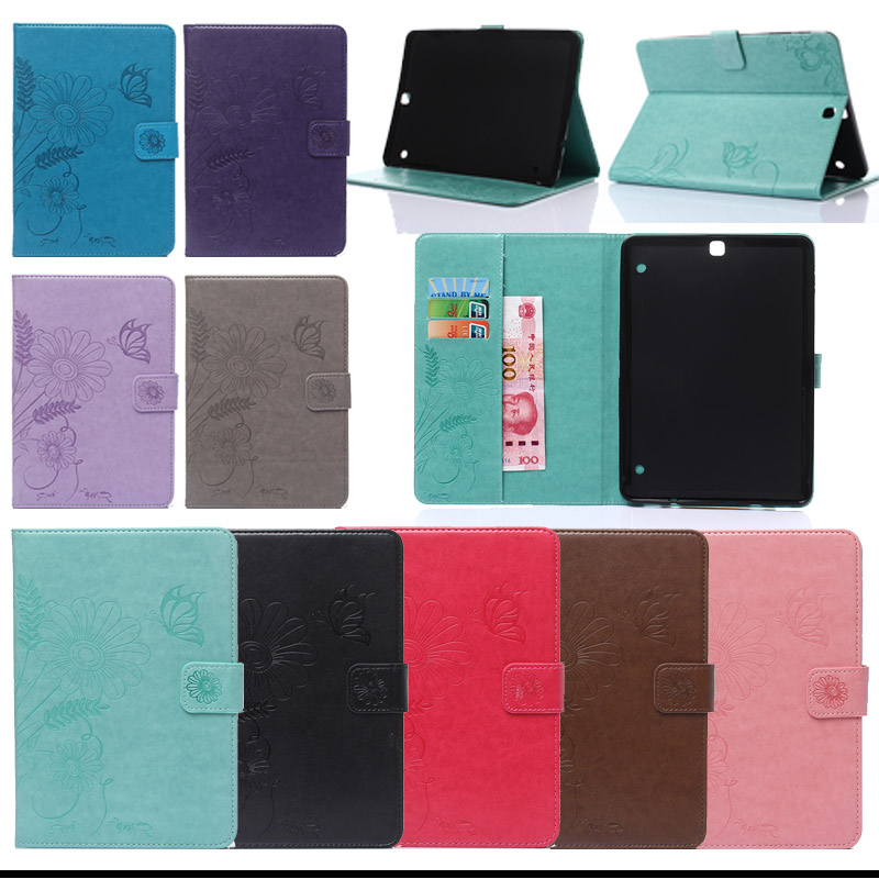 For Samsung Tab S2 9.7inch Cover PU Leather Stand Case For Samsung Galaxy Tab S2 9.7 inch SM-T810 T815 Tablet Accessories KF433D luxury flip stand case for samsung galaxy tab 3 10 1 p5200 p5210 p5220 tablet 10 1 inch pu leather protective cover for tab3