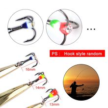 8027 Long Shot Squatting Special Metal Lure Sequin Bait Fake Gold Silver Spoon Spinner Hard Baits Fishing Gear