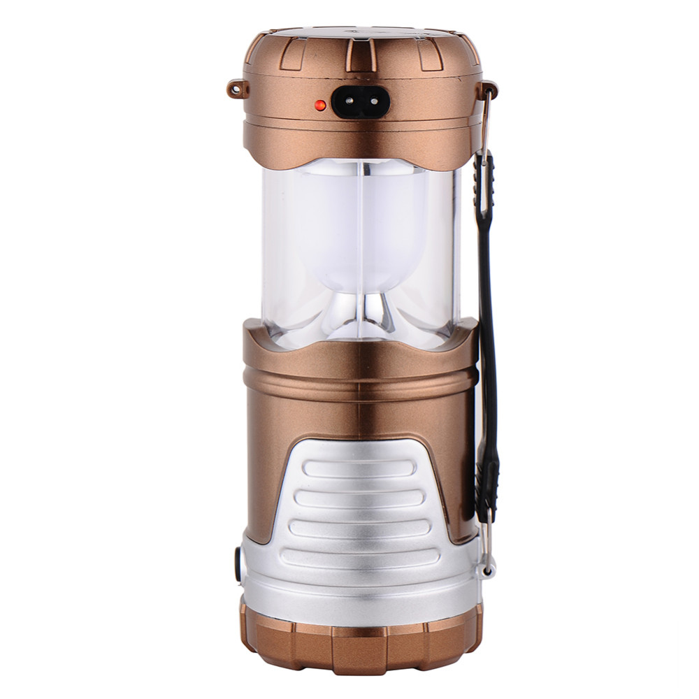 camping light 6 LEDs Rechargeable Hand Lamp Collapsible Solar Camping Lantern Tent Lights for Outdoor Lighting