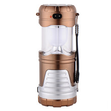 camping light 6 LEDs Rechargeable Hand Lamp Collapsible Solar Camping Lantern Tent Lights for Outdoor Lighting Hiking Camping