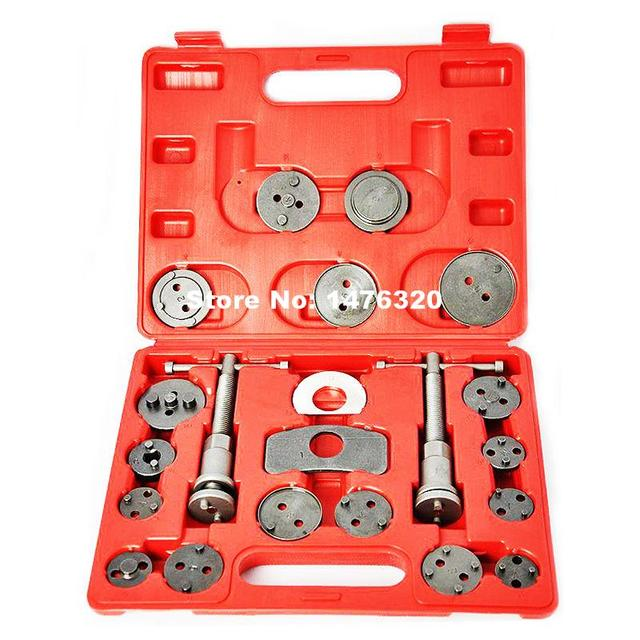 21PCS Car Caliper Disc Brake Wind Back Pad Piston Compressor Tool Kit AT2112