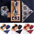 3 PCS Men Bow Tie and Handkerchief Set Bowtie Slim Necktie Corbatas Hombre Pajaritas Cravate Homme Noeud Papillon Man