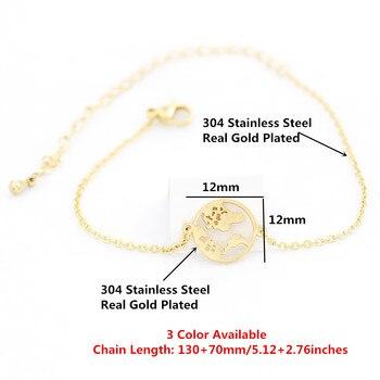 Stainless Steel World Map Bracelets For Women Travel Jewellery Rose Gold Chain Friendship Sister Gifts Globe Bracelet Femme BFF 1