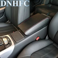 DNHFC PU leather Car Armrest Box Cover Car Accessories For Audi A6 C6 C7 2005 2011 2012 2018