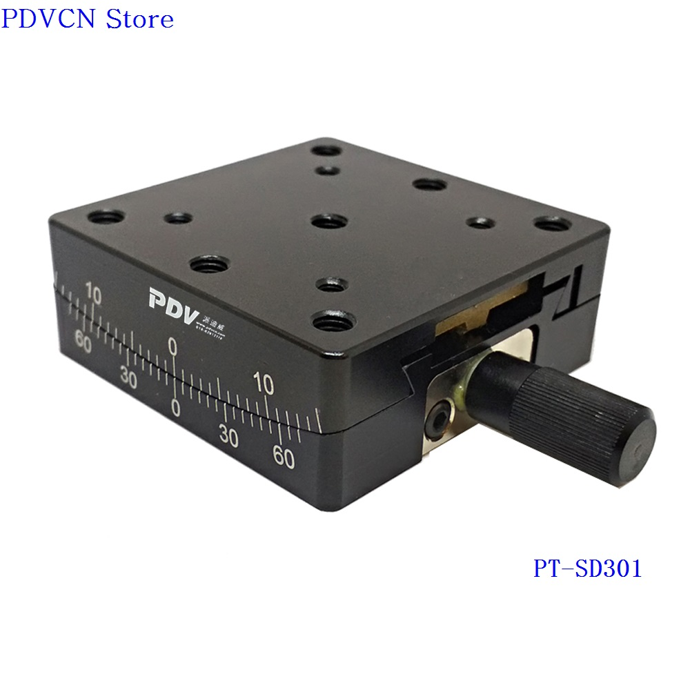 PT SD301 Precise Manual Goniometer Stage Dovetail Platform Optical Sliding Table Rotation Range 10 degree