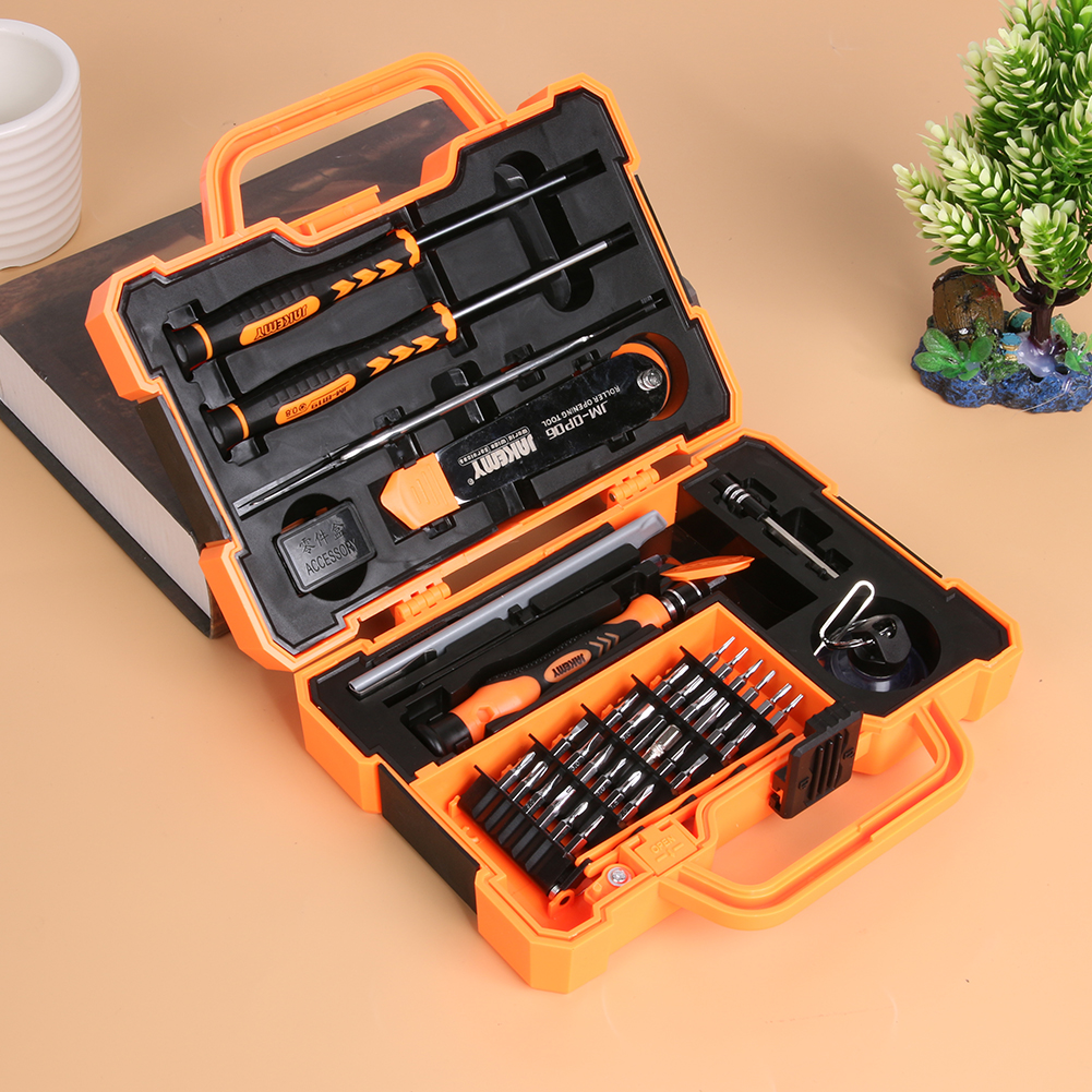 45pcs/set Precision Torx Screwdriver Set Spudger Pry Tweezers Screwdriver Opening Tools Electronic Phone Computer Repair Kit