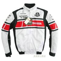 Summer MOTO GP Racing Team Commemorative Edition White Jacket For YAMAHA Motorcycle Keep Warm Jacket With Removable Cotton Liner