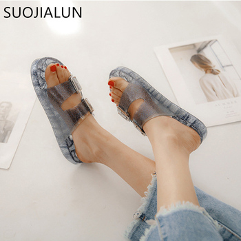 SUOJIALUN Women Slides Flip Flops Sandals Fashion 2018 Brand Female Home Slippers Casual Beach Shoes Sandalias Zapatos Mujer