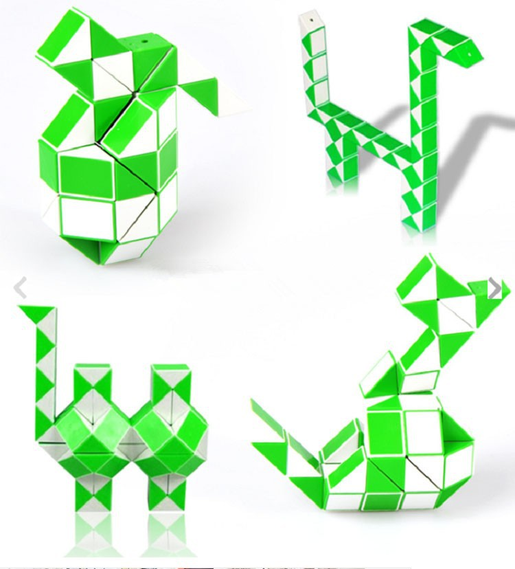 Newest Funny Magic Snake Shape Toys Game 48 Segment Cube Puzzle Toys Gift For Kids Child Action Toy Figures