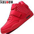 Keloch Men Shoes Red Suede&PU Leather Men High Top Casual Shoes Summer Cool&Winter Warm Men Shoes Red Botas