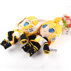 Плюшевые куклы в стиле аниме вокалоid, Kagamine Rin/Len, плюшевые игрушки для детей, 2 шт./компл., 31 см