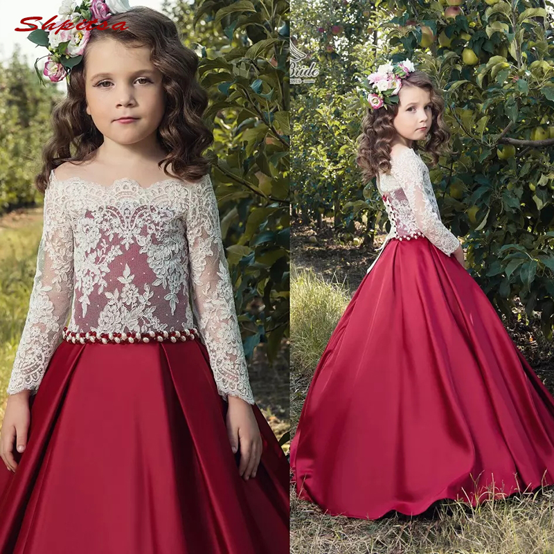 Flower     Girl     Dresses   for Weddings Party First Communion   Dresses   for   Girls   Pageant   Dress   Flowergirl   Dress