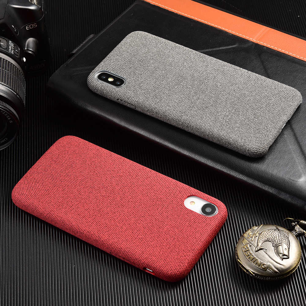 cbd353702e Ultra-thin Canvas Silicone Phone Cover For iPhone XS Max X XR 7Plus Plush  Knit