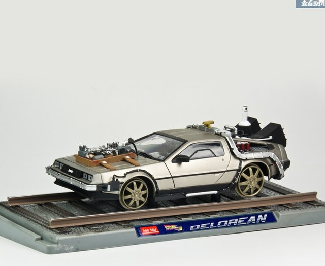 1:18 Scale Back To The Future 3 delorean DMC 12 scifi car
