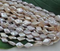 wholesale 5 strands 9 10mm rhombus shape Genuine cultured pearl strings lots