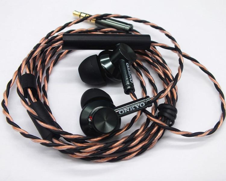 Original ONKYO E700M Ruído Isolando In ear fone de ouvido fone de Ouvido Hifi Super Bass Fones de Ouvido com microfone e controle remoto para todos os smartphones