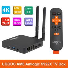 UGOOS AM3/AM6 TV Box Android 9,0 2 GB/16 GB 2,4G y 5G WiFi Set top Box Amlogic S922X 1000M LAN BT 5,0 HD 4K Smart Media Player(China)