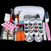 Biutee Professional Full Set UV Gel Kit Nail Art Set + 9W Curing UV Lamp Dryer Curining Manicure Tools