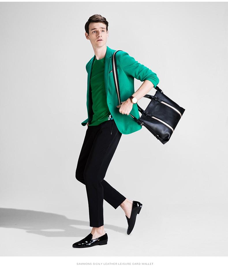 SAMMONS men genuine leather briefcase 2
