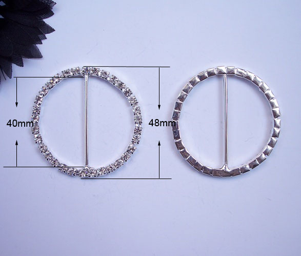 J0004 40mm inner bar round rhinestone buckle big round luxury product very big buckles