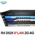 Полный Gigabit Multi-Wan Маршрутизаторы Ядра с 6 82583 В lan Intel D525 1.8 Г поддержка ROS Mikrotik PFSense Panabit Wayos 2 Г RAM 8 Г SSD