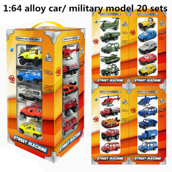 1:64 alloy car/military model 20 sets,high simulation toys vehicles/military model,metal diecast,educational toys,free shipping