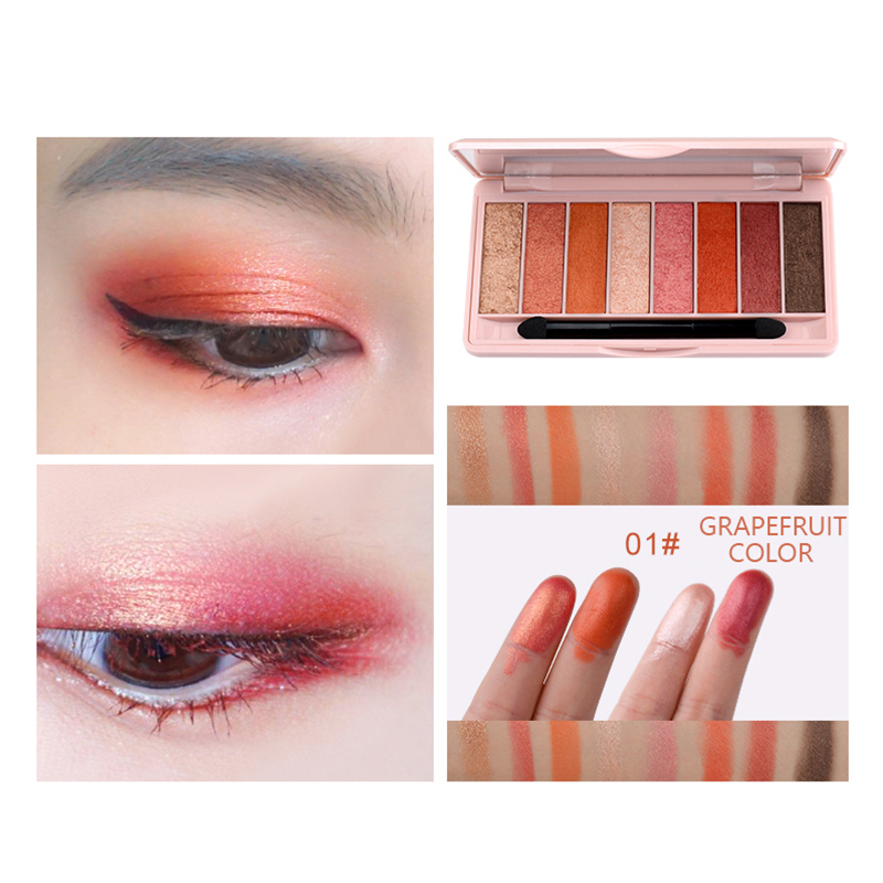 HOLD LIVE Earth Color Eye Shadow Palette 8 Colors Glitter Matte Pigment Wet Eyeshadow Pallete Cosmetics Makeup Peach Shadows KitHOLD LIVE Earth Color Eye Shadow Palette 8 Colors Glitter Matte Pigment Wet Eyeshadow Pallete Cosmetics Makeup Peach Shadows Kit