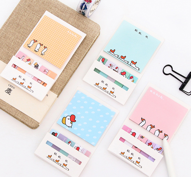 Cartoon animals combination sticky notes Memo Pad set Paper Sticker Post It Notepad Gift Stationery Escolar Papelaria