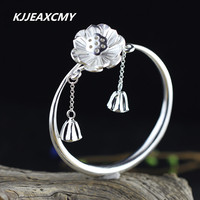 KJJEAXCMY S925 silver products for women to live on a small plain silver bracelet like the best choice to send girlfriends