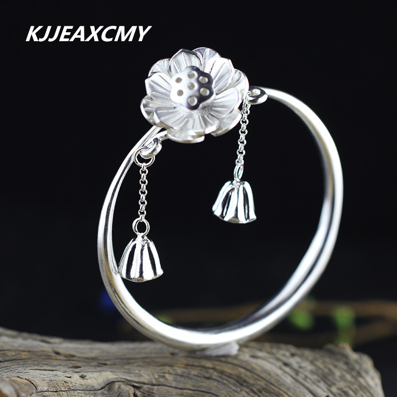 KJJEAXCMY S925 silver products for women to live on a small plain silver bracelet like the best choice to send girlfriends products to