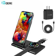 2 in 1 Fast Dual Wireless Charging Pad สำหรับ Samsung Galaxy S10 S9 S8 เกียร์ Buds 10W Qi charger Station สำหรับ iPhone XS XR X 8