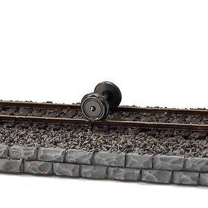 Image 4 - 24 peças 36 rodas de metal para modelo comboio 1:87 ho escala c8724 dc rodas modelagem ferroviária