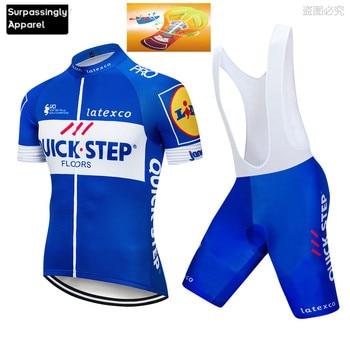 Pro Quick Step azul ciclismo conjunto de Ropa de bicicleta MTB Maillot...