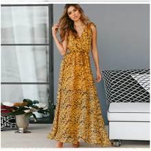 liva girl Sexy Split Night Vestido Lady Sleeveless Midi Party Dresses Womens Leopard Print High Waist V-Neck Long Dress