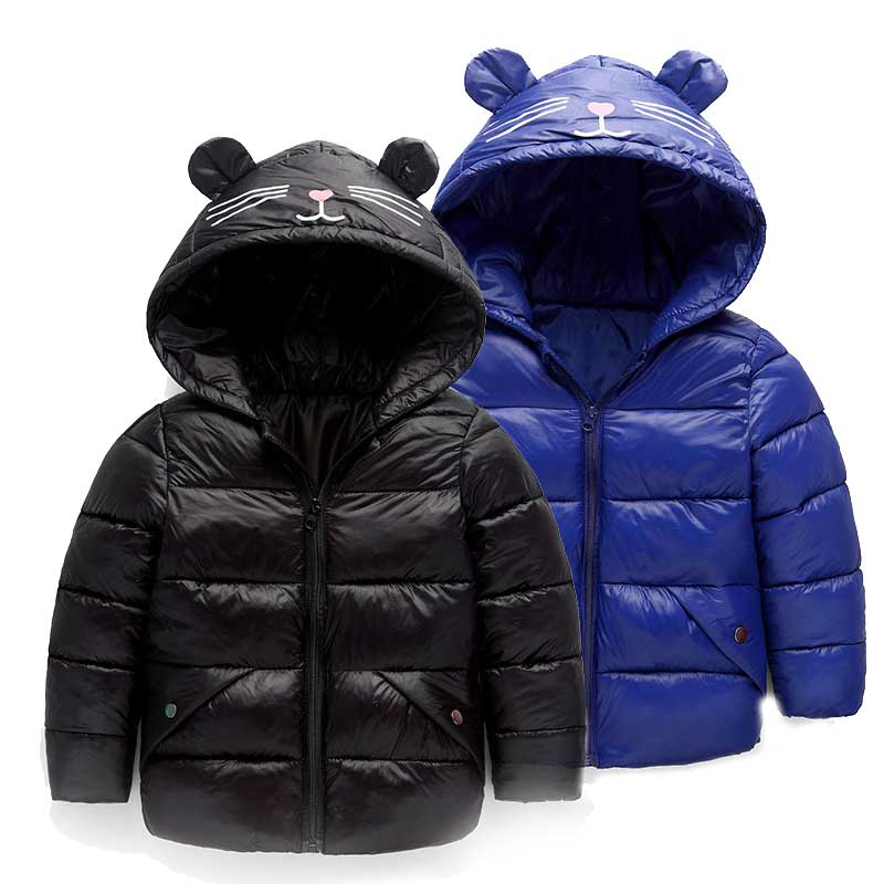 2-6T Children Jackets Boys Girls Winter Down Coat Baby Winter Coat Kids Warm Outerwear Hooded Coat Snowsuit Overcoat Clothes стоимость