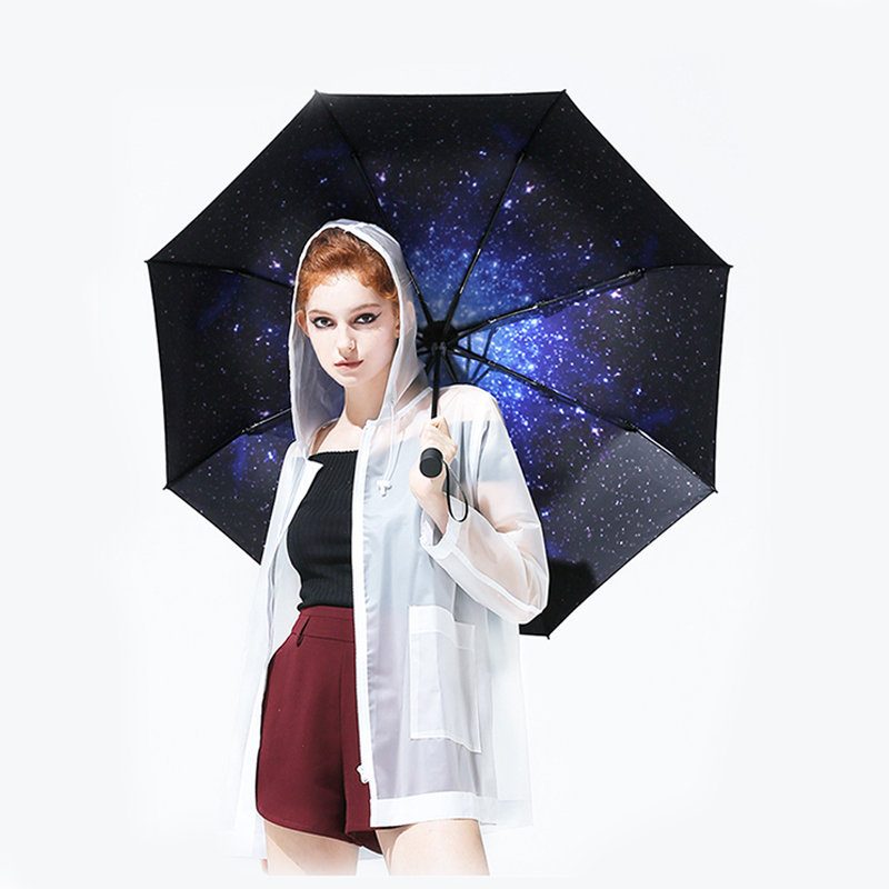 2019 Hot 8K Fashion Folding Umbrella Female Male Car Luxury Large Windproof Umbrellas Umbrella Rain Women Black Paint Paraguas